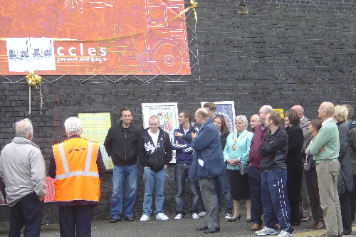 Unveiling the Eccles Station Mural (Photo: Stephen Hopkins)