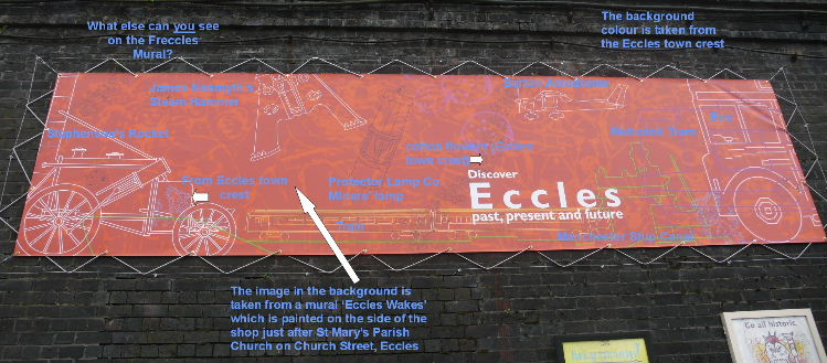 the Eccles Station Mural explained (Photo: Elizabeth Charnley)